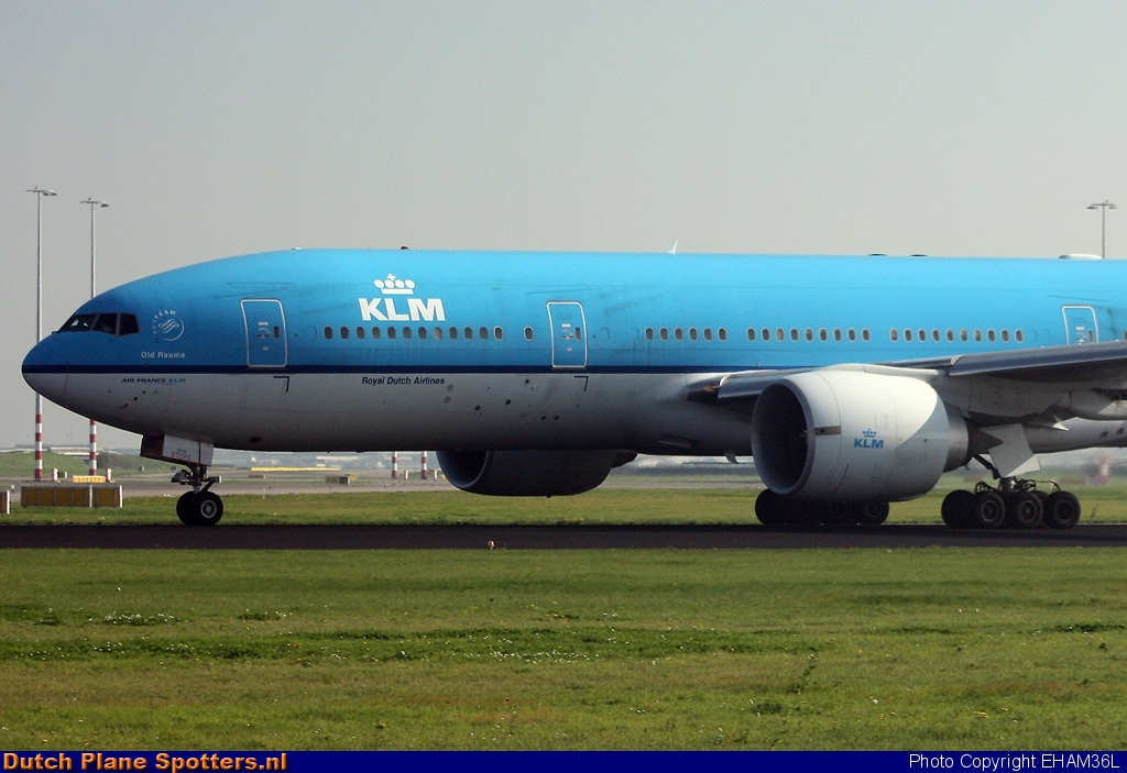 PH-BQO Boeing 777-200 KLM Royal Dutch Airlines by EHAM36L