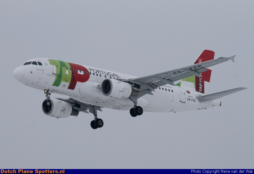 CS-TTR Airbus A319 TAP Air Portugal by Rene van der Wal